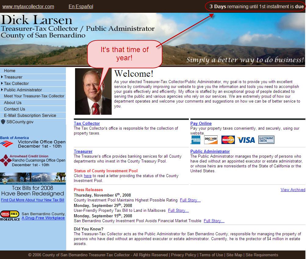San Bernardino Tax Assessor Property Search